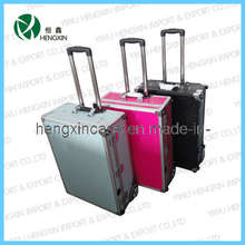 Aluminum Cosmetic Rolling Makeup Beauty Case Box