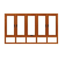 Feelingtop Casement Alumunium Wood House Windows (FT-aluminum wood window)