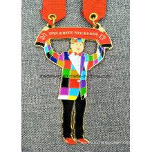 Medalla esmaltada moldeada a presión con forma personalizada