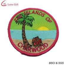 Значок вышивки Оптовая Custom логотип школы (LM1560)