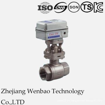 Válvula de bola motorizada eléctrica 2PC para el uso industrial