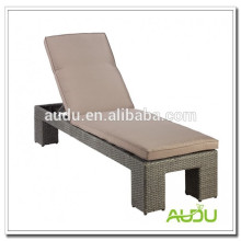 Elegante al aire libre de mimbre de playa de mimbre / sol cama / chaise lounge