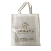 Ultrasonic printing and stitched non woven bag