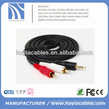 Cheap price 3.5mm to 2rca av audio cable 50ft
