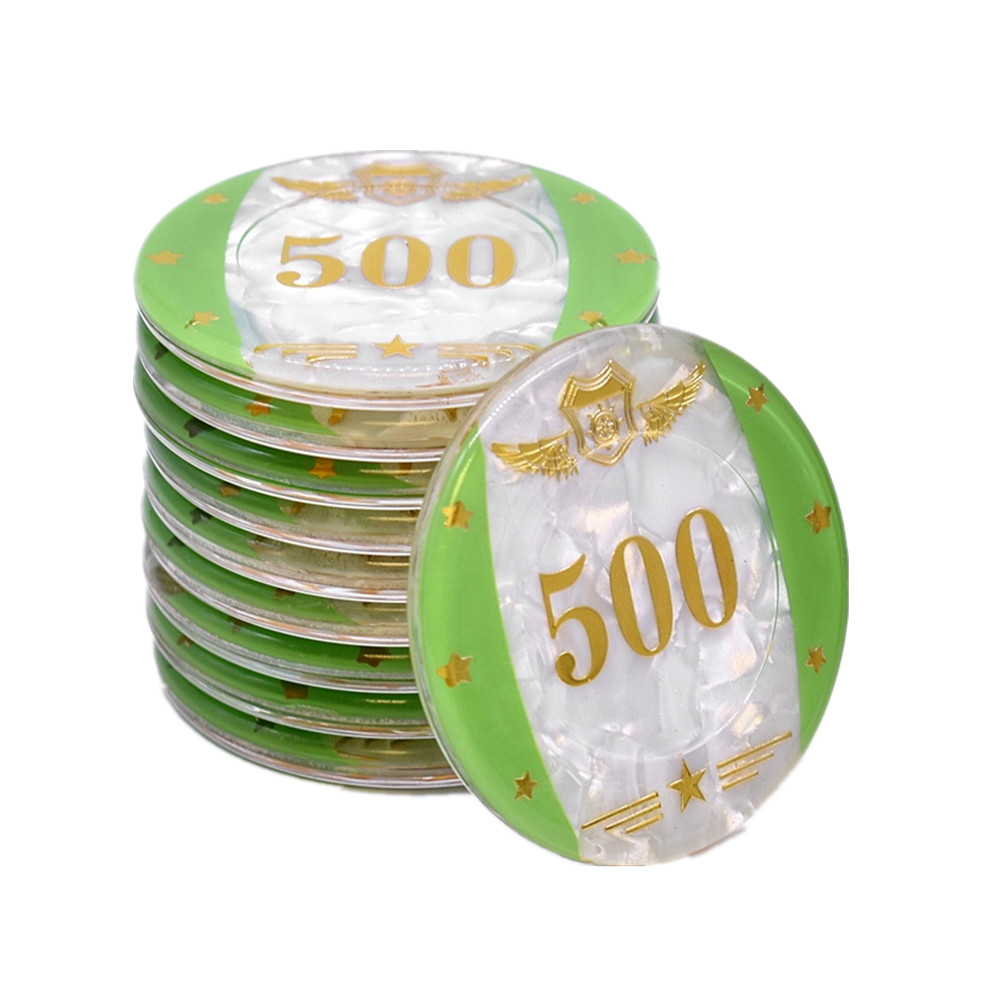 Acrylic Poker Chips Green