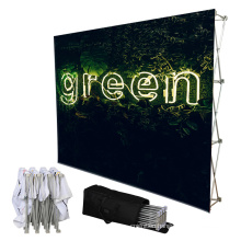 custom design 8ft straight backwall exhibition pop up display stand