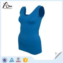 Yoga Tank Top Athletic Wear Femmes Plain Singlet