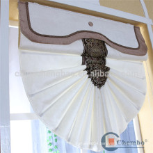 Modern pure white roman blind linen curtain