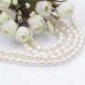60inches de largo Natural Real Mujeres collar de perlas de agua dulce
