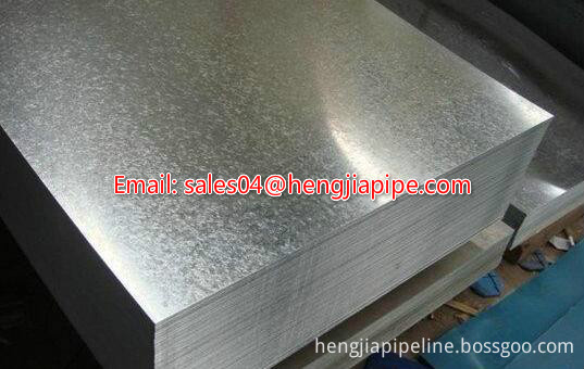 hot-dipped galvanized steel plate