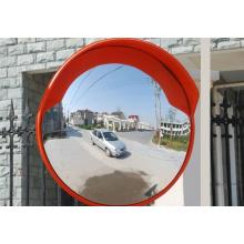 Unbreakable Orange Traffic Convex Mirror Indoor and Outdoor