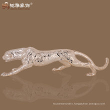high quality home ornament fengshui leopard resin sculpture