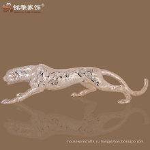 высокое качество домашнее украшение фэншуй леопарда смолаы скульптура
