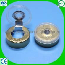 Casquillo desprendible de plástico y aluminio para viales