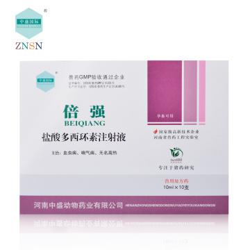 Doxycycline Hyclate 5% Injection, antibiotiques de la classe des tétracyclines pour le traitement des bactéries gram-positives et négatives