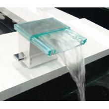 Badezimmer Wasserfall Bassin Wasserhahn mit Glas Material
