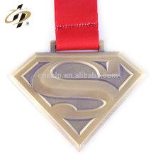 Antique bronze finisher superman custom running sports medals