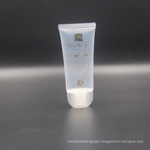 65ml transparent clear cosmetic plastic facial cleanser packaging tube
