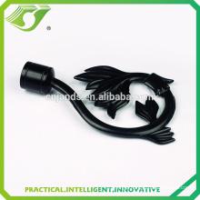 D-S0027 Modern new items black leaf shape curtain poles finials