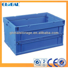 Stacking storage container/foldable plastic container