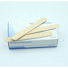 Depressor de língua de madeira médico descartável do vidoeiro estéril