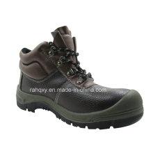 Café en relief chaussure de sécurité en cuir (HQ01010)