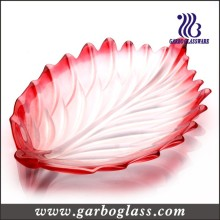 Feather-Shaped Glass Plate (GB1718/PDS1)