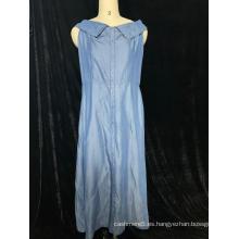 Falda de mezclilla sin mangas para damas