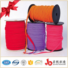 Factory Good Quality Colorful Soft Woven Flat Braided 8mm Elastic Band