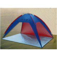 Beach Coated Fabric Glass Tube Convenient Carry Blue/Red Tent