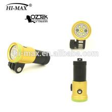 Hohe Intensität 2400lumen Tauchen Video Taschenlampe Hallo-max V11