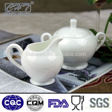 Fine bone china porcelain sugar creamer pot