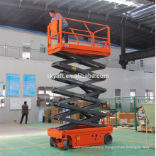 Self-propelled hydraulic scissor lift wood tables lift tables