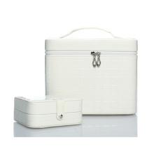 В 2015 Новая коллекция Белый кожаный косметический случай (НХ-q090)