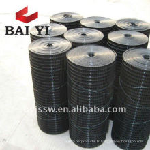 Treillis métallique soudé en vinyle noir