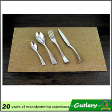 Cubiertos de vajilla de cuchara de tenedor de cuchillo de acero inoxidable de alta calidad