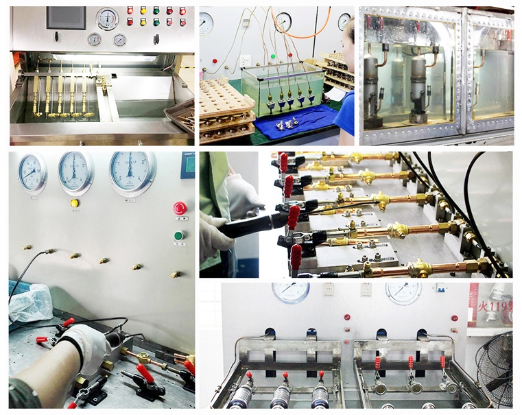 Production view about testing of 7/8'' ODF MSV-1079/7 solenoid valve AC/DC