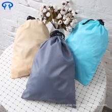 Custom small waterproof nylon drawstring laundry bag