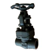 800lb a forgé la valve de porte NPT d'extrémité de fil d'acier au carbone A105