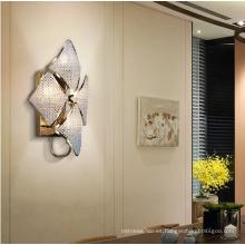 Lámpara de pared llevada cristalina del dormitorio de lujo moderno