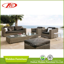 Conjunto de Sofa de Mobiliário de Rattan de Design Novo