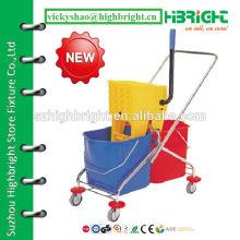 plastic hotel wringer trolley cart
