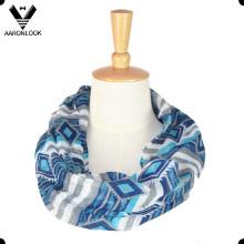 Moda al por mayor patrón geométrico cuello poliéster bufanda