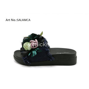 Veganbio Flats Tassels And Flowered Slide Sandalias Zapatos