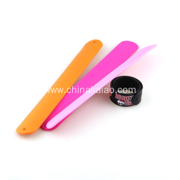 Custom Promotional Gifts Wrist Silicone Rubber Slap Bracelet