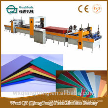 Deorative paper /HPL/Acrylic Hot melt(PUR) Glue Laminating line