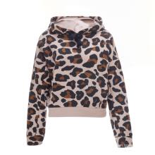 Spring 2021 Ladies' New Arrival Leopard Print Fleece Modern Hoodie