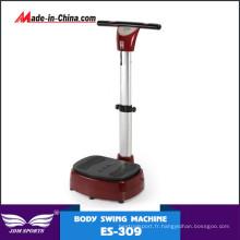 Exercices de machine de plat de vibration de puissance d'ajustement fou