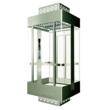 Square type glass panoramic lift