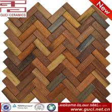 Пользовательский стиль продукта смешанные твердые деревянная плитка стены и пол плитка мозаики